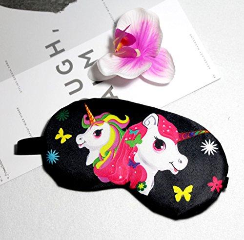 Fashion Unicorn 5Pcs Sleep Mask Cover Lightweight Blindfold Soft Eye Mask for Men Women Kids by Yosbabe (Image #3)
