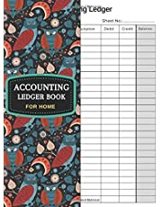 Accounting Ledger Book for Home: The Home Business Accounting Ledger for Home Small Business Records General Transaction Book Made Simple, The Book Use to be a Bookkeeping Home Business A4 Book Size 120 Blank Accounting Ledger Pages