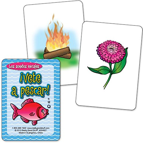 Really Good Stuff ¡Vete a pescar! - Los sonidos iniciales (Spanish Go Fish - Beginning Sounds) by Really Good Stuff (Image #2)