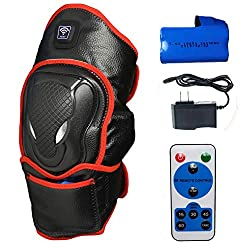 CREATRILL Portable Heated Knee Brace Wrap Support with Remote Control, Far Infrared Heating Pad w/Rechargeable 7.4V 2600mah Battery, Moist Heat for Knee Pain Relief, Stiff, Injury, Cramps, Arthritis,