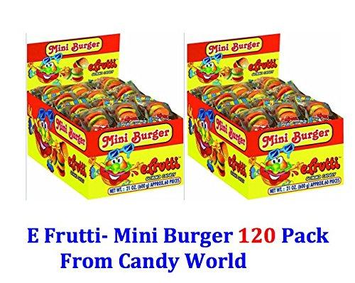 eFrutti Mini Burger Gummy 120 Pack (Burger Gummies)