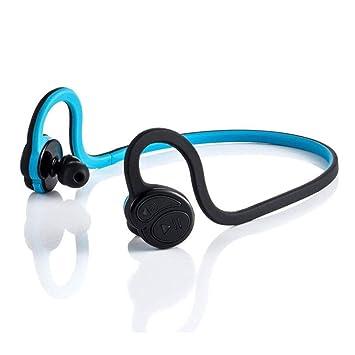 Auriculares Bluetooth Auriculares Inalámbricos Bluetooth 4.0 con Auriculares Que Funcionan con Micrófono Manos Libres Llamadas,Blue-OneSize: Amazon.es: ...