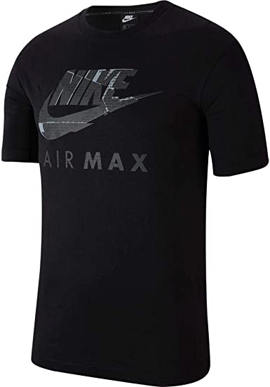 Nike Air Max Logo Mens Black T Shirt