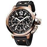 TW Steel Men's CE1023 CEO Canteen Black Leather Chronograph Dial Watch
