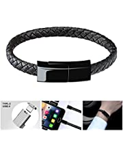 Bsolli USB Type C Cable Bracelet Charging Cord for Samsung S9/S9+ S8/S8+(9.1inch)