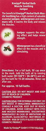 Kneipp Herbal Bath, Muscle Smoothing, Juniper, 3.38 fl. oz. - incensecentral.us