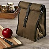 Fit & Fresh Men's Classic Roll Top Insulated Lunch Bag with Ice Pack, Dark Brown Reviews