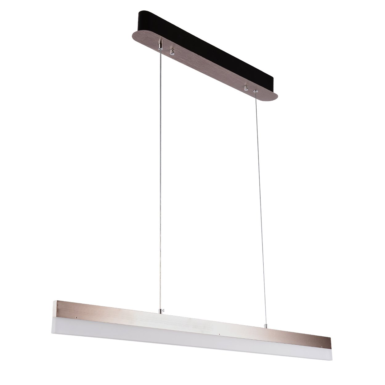 CEENWE Pendant lighting Banagher Chandelier Island light fixtures Linear for Kitchen and dining room,with Adjustable Hanging 2500 lumens LED (40in)