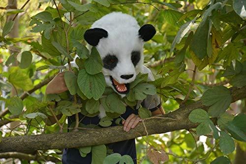 BAIJIAXIUSHANG-MASK Party Fun Maske Tiermaske heiß-verkaufende Halloween-Party bewegen Mund Panda Maske Tier Fursuit Maske Tier Karneval Panda Masken Tier Kopf Maske Größelige Tiermaske Weiß 2525