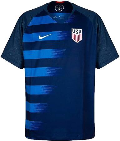 Nike USA M Nk BRT Stad JSY SS AW Camiseta, Hombre, Azul (Midnight Navy/Nebula) / Blanco, S: Amazon.es: Ropa y accesorios