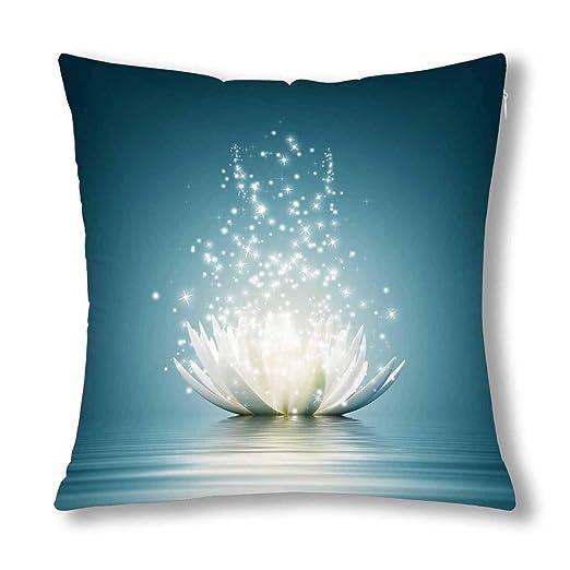 Kinhevao Meditación Espiritual Yoga Magic Lotus Flower Cojín ...