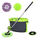 Songmics ULSP02H Easy Wring Spin Mop and Bucket System Wi