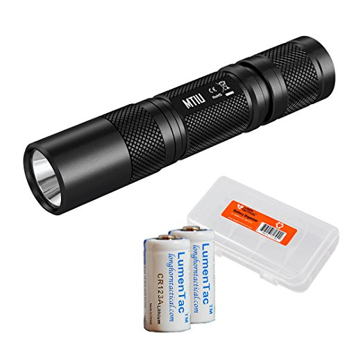 Nitecore MT1U Multi-Task Professional 365nm 3W Ultraviolet Blacklight LED Flashlight w/ 2x LumenTac CR123A Batteries & Organizer