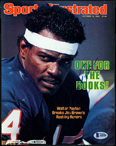 Cover Payton Walter - Walter Payton Autographed Sports Illustrated Magazine Cover Chicago Bears Beckett BAS #A60586
