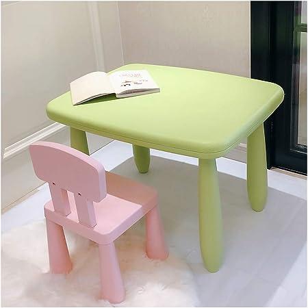 CHAXIA Silla De Mesa Infantil Bebé Aprendizaje Mesa De Juego Mesas Verdes Sillas Azules Y Rosas Fácil De Limpiar, 2 Colores (Color : B): Amazon.es: Hogar
