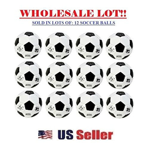 Official Soccer Balls Size 5 Wholesale Bulk Outdoor/Indoor Ball (LOT OF 12X)