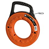 Klein Tools 56002  Depth Finder with High Strength 1/8-Inch Wide Steel Fish Tape, 65-Foot Length