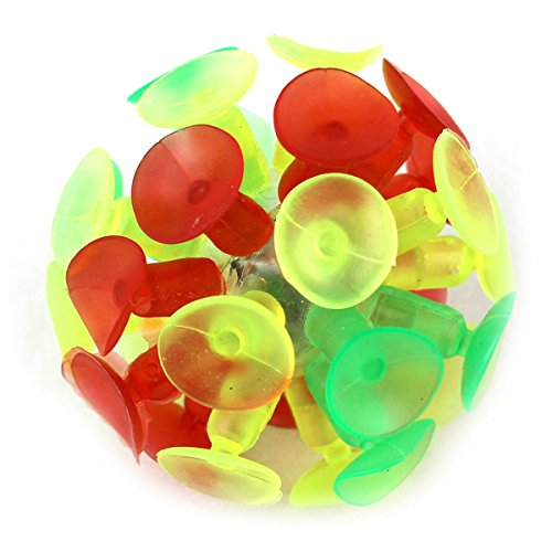 OLSUS Kids Multicolored Suction Cup Ball Flash Luminescence Plaything Party Toy for Children