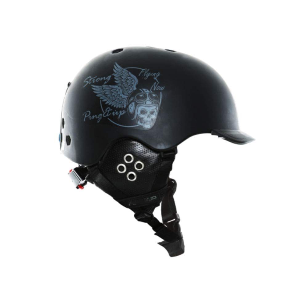 YWLG Skiing Helmet PC B EPS Ultralight Ski Helmet Deportes Extremos Snowboard//Skateboard Casco Hombres Mujeres,Black