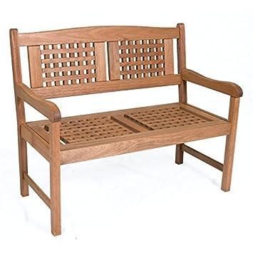Brilliant Amazon Com Amazonia Portoreal Eucalyptus Wood Bench By Ibusinesslaw Wood Chair Design Ideas Ibusinesslaworg