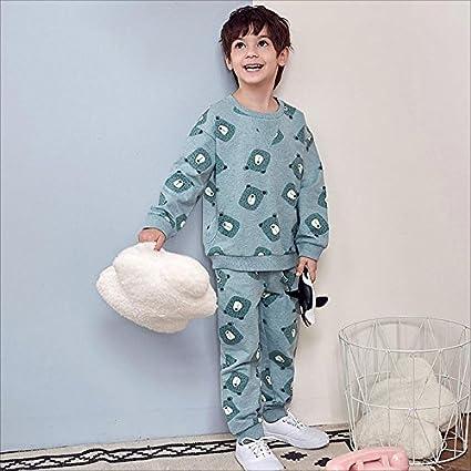 Pijama conjunto Niños Ropa de dormir Ropa de dormir chicos conjunto Bebé dos piezas Algodón cuello