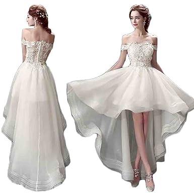 0ea911241ce2d (ハビー)habille レディース  オフショルダー ミニドレス 前上がり ウェディングドレス 結婚