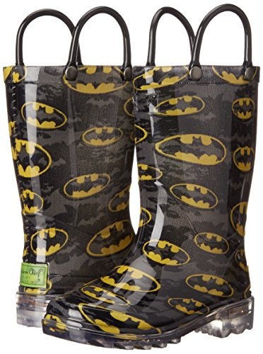 Western Chief Kids Waterproof D.C. Comics Character Rain Boots with Easy on Handles, Light-up Batman, 12 M US Little Kid by Western Chief (Image #6)