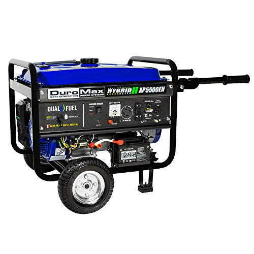 DuroMax XP5500EH 5,500 Watt 7.5 HP Portable Electric Start Dual Fuel Gas/Propane Generator by DuroMax (Image #1)