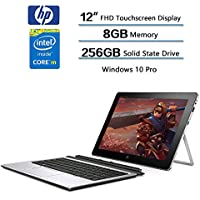 HP Elite X2 1012 G1 Detachable 2-IN-1 Business Tablet Laptop - 12 FHD IPS Touchscreen (1920x1280), Intel Core m5-6Y54, 256GB SSD, 8GB RAM, Keyboard + HP Active Stylus, Windows 10 Professional 64-bit