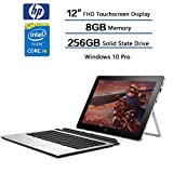 HP Elite X2 1012 G1 Detachable 2-IN-1 Business Tablet Laptop - 12'' FHD IPS Touchscreen (1920x1280), Intel Core m5-6Y54, 256GB SSD, 8GB RAM, Keyboard + HP Active Stylus, Windows 10 Professional 64-bit