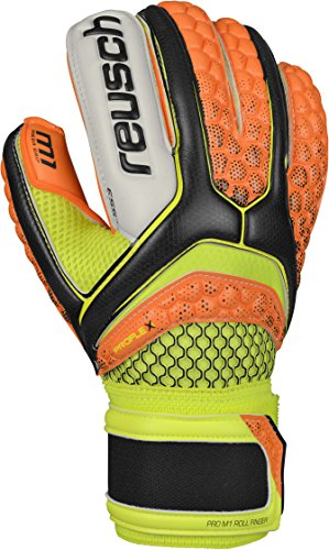 Surround Goalkeeper Glove (Reusch Soccer Pulse Pro M1 Roll Finger Goalkeeper Glove, Size 10, Orange/Yellow, Pair)