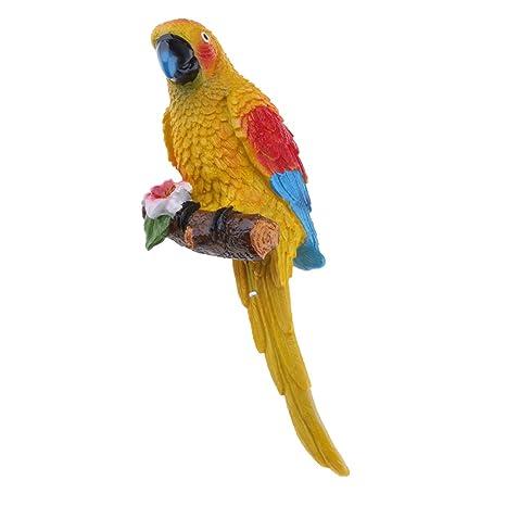 Amazon Com Baoblaze Simulation Resin Parrot Home Decoration