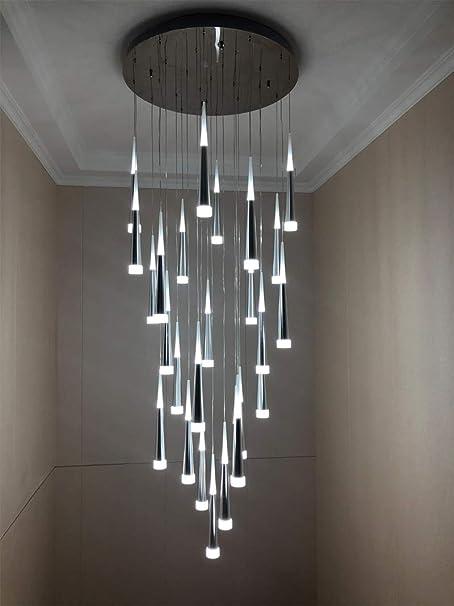 LIGHT*KUO Moderna Escalera Araña Techo Iluminación Interior Lámpara Larga Escalera Lámpara Colgante Lámparas Colgantes luminaria Luminosa,15lighsroundbase: Amazon.es: Hogar