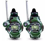 Anlising Watch Walkie Talkies, Walkie Talkie For Kids Two-Way Long Range Watch Radio Transceiver 7 In 1 Electronic Outdoor Interphone Watch Outdoor Toy Gift Extra Battery&Scarf&Screwdriver