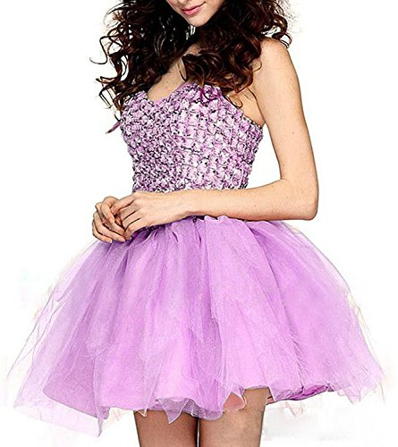 Fanciest Homecoming Lilac Gowns Prom Ball Crystal Pink Dresses 2016 Cocktail Women's Short SqrP6SR