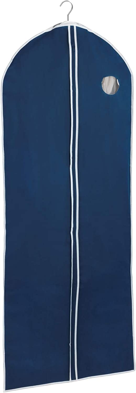 Wenko Air Velo Bolsa Protectora de Ropa Transpirable, Polipropileno, Azul, 150x60x3 cm