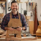 Genuine Leather Grill Work Apron with Tool Pockets