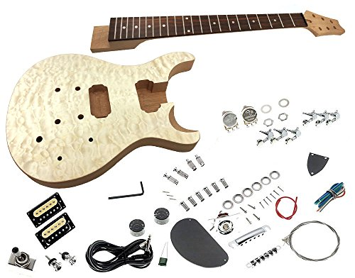 Solo PRK-10 DIY Electric Guitar Kit With Quilted Maple Top