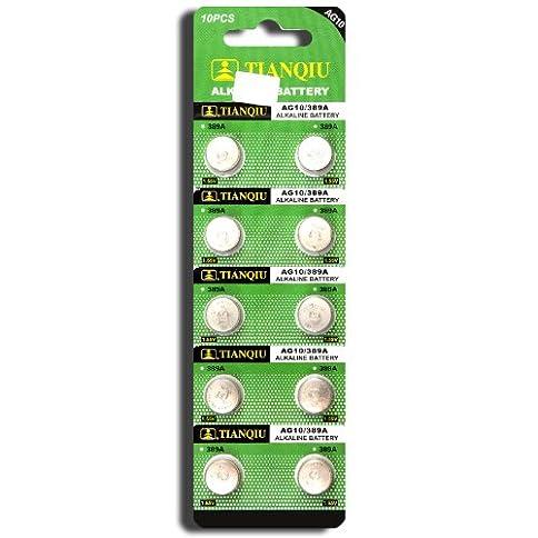- 51Guvr0H59L - AG10 389A LR1130 LR54 L1131 SR1130 Button Cell Batteries [10-Pack]