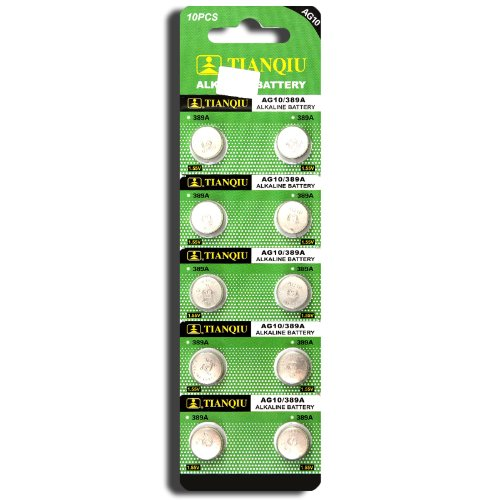 AG10 389A LR1130 LR54 L1131 SR1130 Button Cell Batteries [10-Pack]