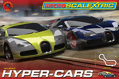 Scalextric Micro Hyper-Cars Race Set (1:64 Scale) (Slot Car Set)