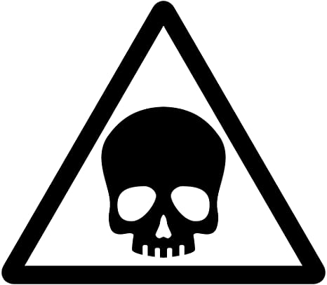 Amazon|ドクロ・有害・危険・猛毒・注意 マーク シール ステッカー カッティングステッカー  光沢タイプ・防水・耐水・屋外耐候3~4年【クリックポストにて発送】 (黒, 200)|ウォールステッカー オンライン通販