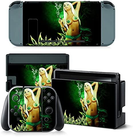 Nintendo Switch Skin Design Foils Faceplate Set - Cannabis Girl ...