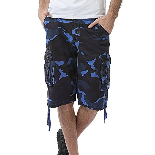 - Men's Casual Camouflage Multicolor Overalls Shorts Pants Beach Work Cargo Shorts Pant with Pocket by JUSTnowok