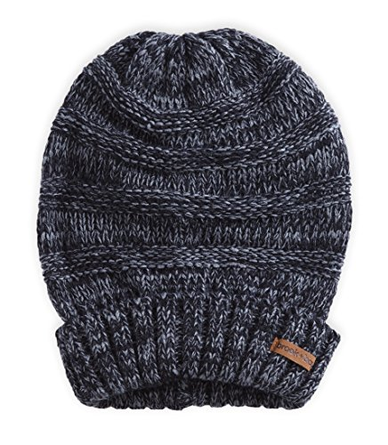 Brook + Bay Women's Slouchy Cable Knit Cuff Beanie - Chunky, Oversized Slouch Beanie Hats for Winter - Stay Warm & Stylish - Serious Beanies for Serious Style