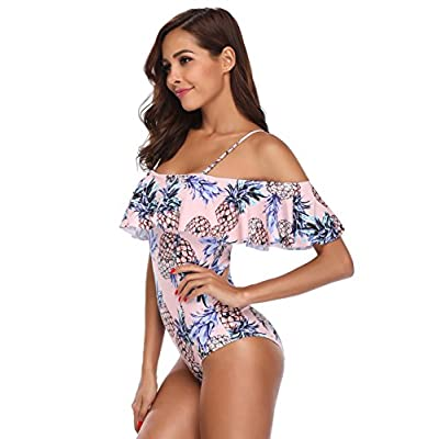 MARINAVIDA Women One Piece Ruffle Swimsuit Off Shoulder Bathing Suit at Women's Clothing store