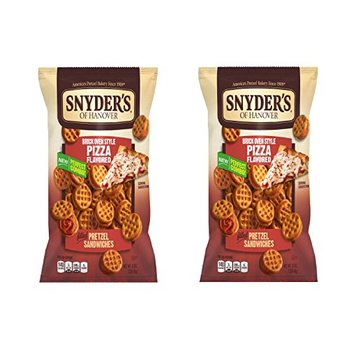 Snyder's of Hanover Pretzel Sandwiches, Brick Oven Style Pizza, 8.0 OZ, one bag (Pack of 2)