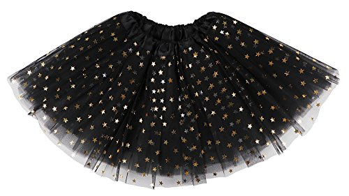 Lullaby 4 Layered Girls Tutu Skirt Fluffy Stars...
