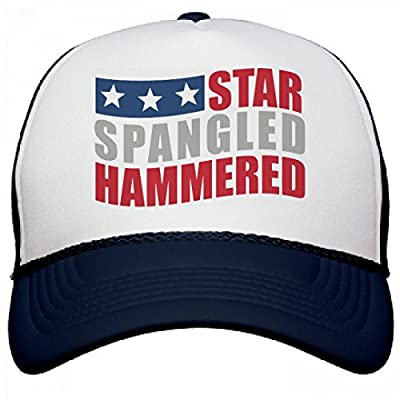 FUNNYSHIRTS.ORG Star Spangled Hammered: Otto Poly-Foam Snapback Trucker Hat
