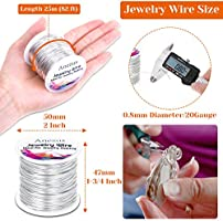 Anezus Craft Wire Tarnish Resistant Copper Beading Wire for Jewelry Making Supplies and Crafting 20 Gauge Jewelry Wire Sliver